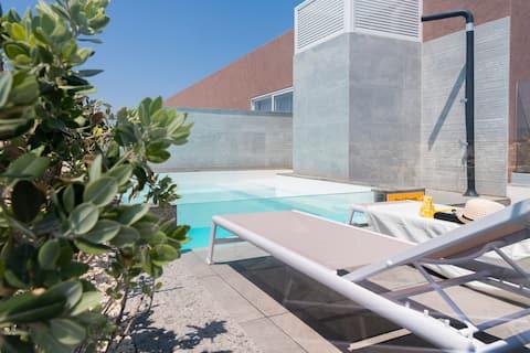 ★ Appartement Central LUX ★ avec PISCINE et terrasse de 18 m² ⮕