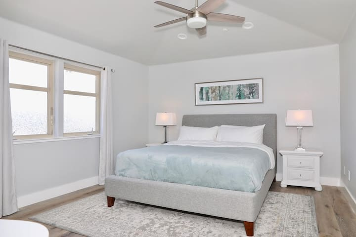 This is the upstairs King guest room.