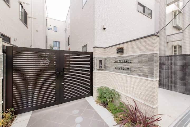 GW-komagome 103 JR山手線駒込駅徒歩2分#100平米の綺麗な内装別荘#無料WIFI