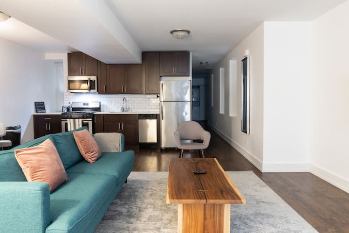 5min to Wicker, Dtown | Quiet Flat + W&D | Zencity