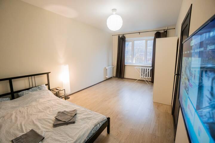 Комфортная квартира рядом со склоном