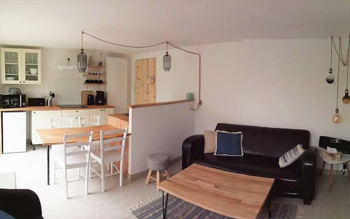 Appartement, 4 voyageurs, terrasse + jardin