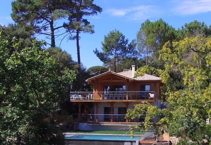 Pyla Moulleau villa neuve esprit cabane piscine