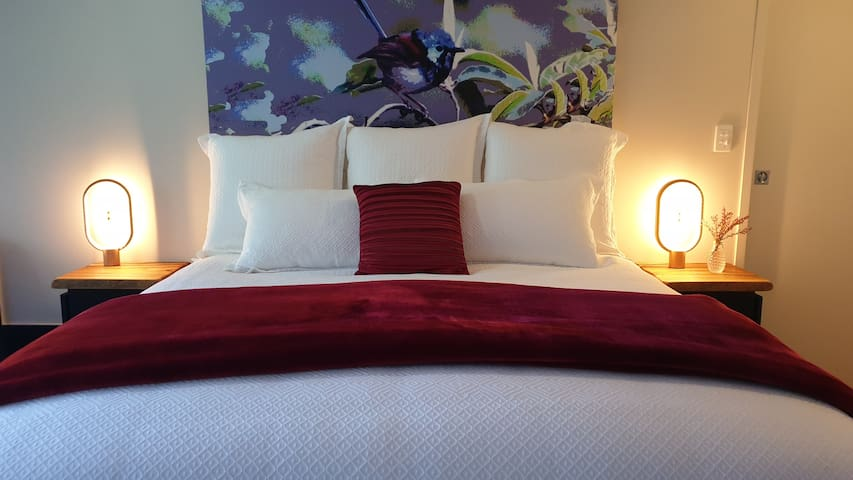 Luxurious King Size Bed is like sleeping on a cloud the little one said...