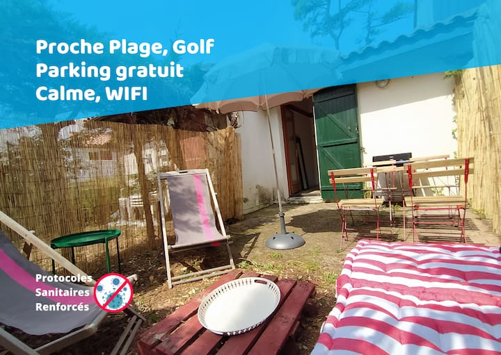 ⭐Bidarteko Paradisua parking plage golf 🏖️⛳🏄🏻