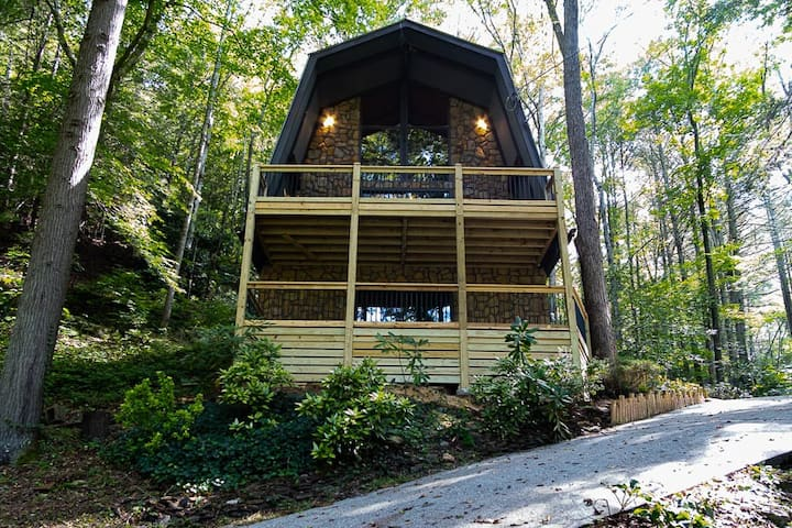 Beautiful A-Frame Style Cabin on 5 Private Acres