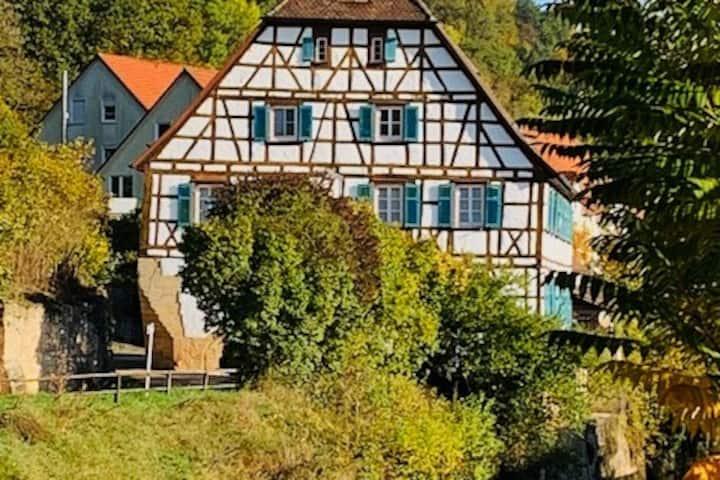 Hell, groß, historisch! Die alte Mühle Neckarburg