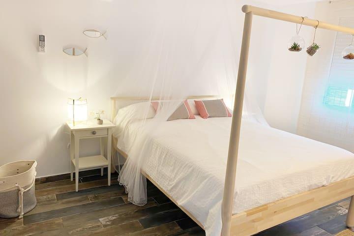 Habitación cama 160*200, AC/calefacción.