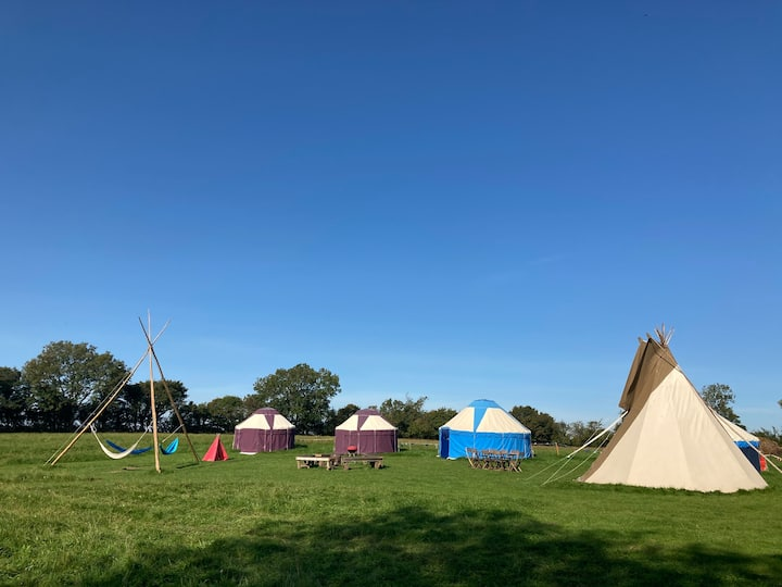 Entire Tipi and Yurt Camp. Pilton, Glastonbury