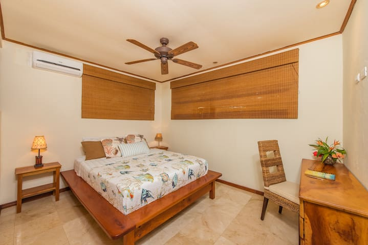 Bedroom # 3 features very comfortable queen bed, desk space, a/c unit with temperature control and ensuite full bathroom.