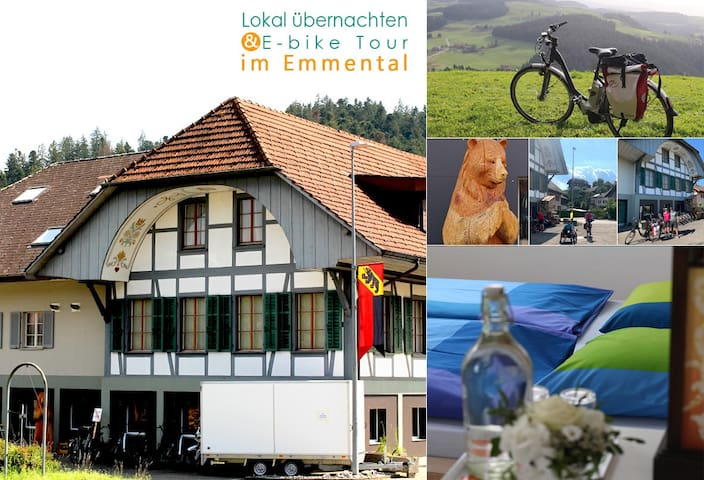 Overnight im Emmental (good for E-bike tour)