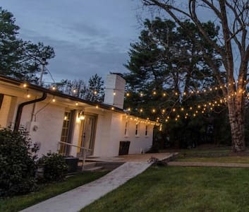 Market lights and back porch lights, as well as flood lights give ample lighting from the driveway to the door.