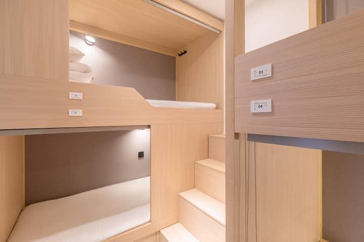「近未来」春熙路/太古里/IFS创意空间一个床位(女生四人间/独立卫浴)