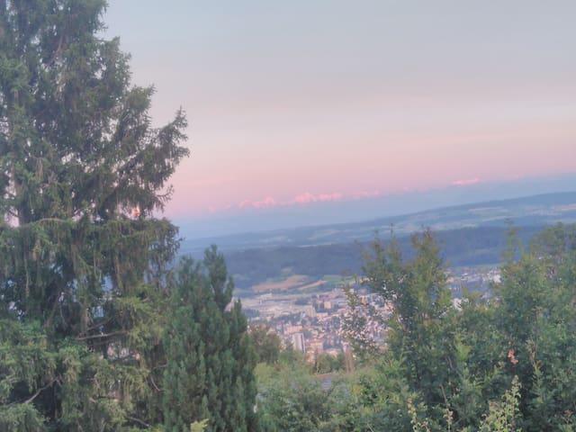 Balkonzimmer: Blick auf Alpen - Genuss mit Küche