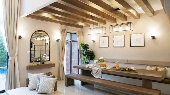 Villa Poesia, 3 BR cozy stylish pool villa