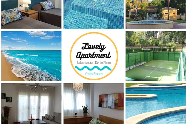 LOVELY APARTMENT DENIA| 🅿-aire ac️-piscina-jacuzz