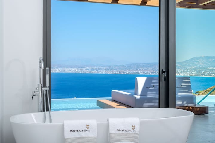 Amazing views from the bathtub of your bedroom!
