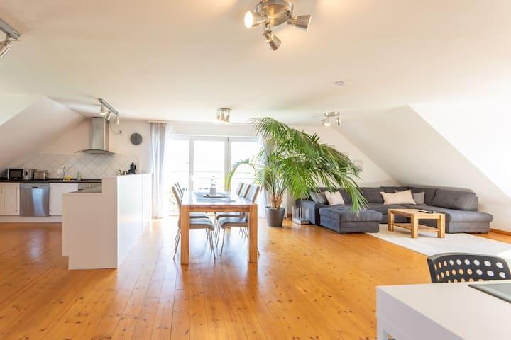 Loftartige, luxuriöse Wohnung, 120qm, nähe Bamberg