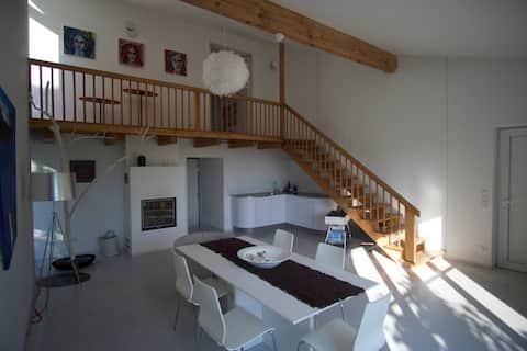Atelier design equipment 86 m2 terrace and garden