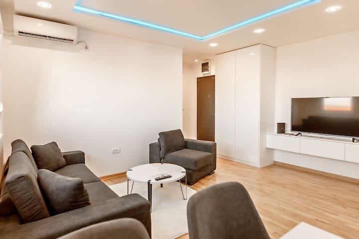 White apartments One bedroom