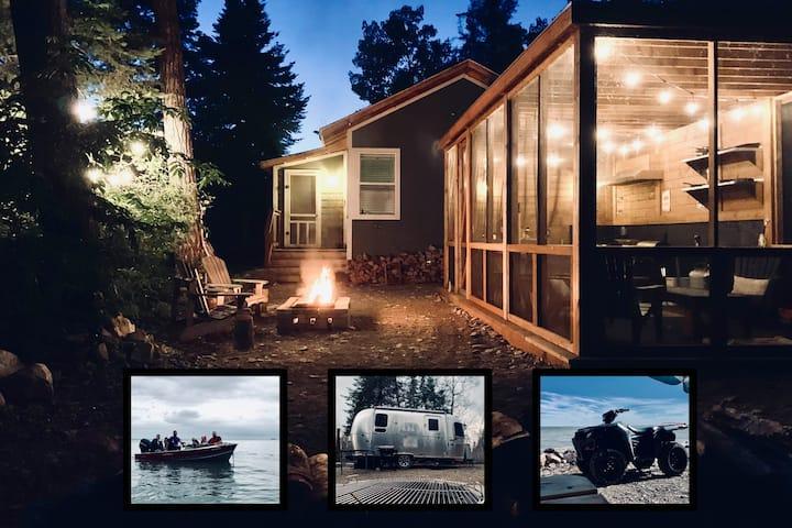Lake Wpg Glamping w/ Cabin, Airstream, ATV & Boat