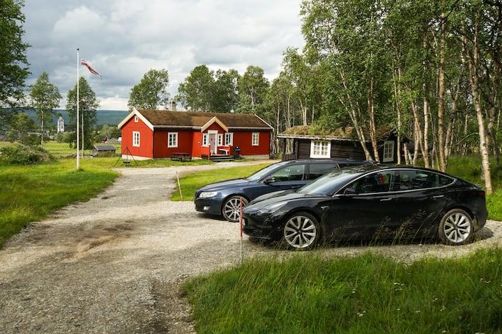 Moderne hytte på Småsetran (gåavstand til sentrum)