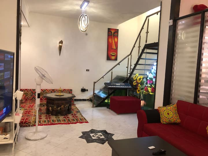 ✔ Room in duplex studio Clean & Quiet in Zamalek ♥