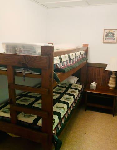 Bedroom 2:  Sleeps 2 Twin bunk bed, dresser. Linens provided:  sheets, comforter, pillow, bath towels.