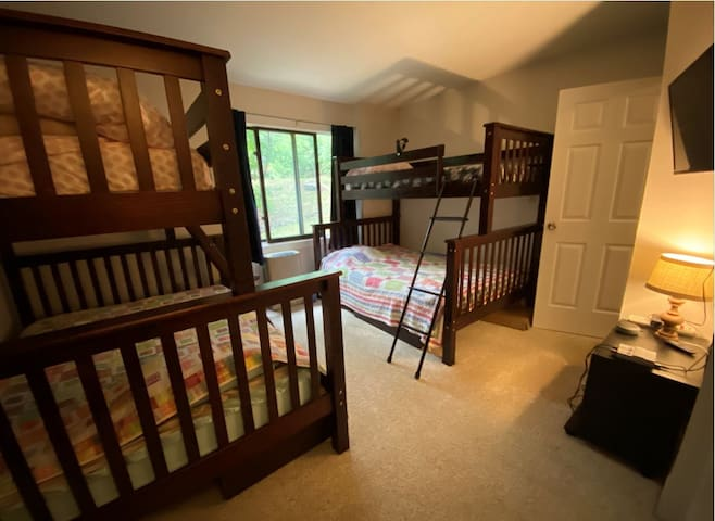 Third Bedroom with twin over full bunk beds