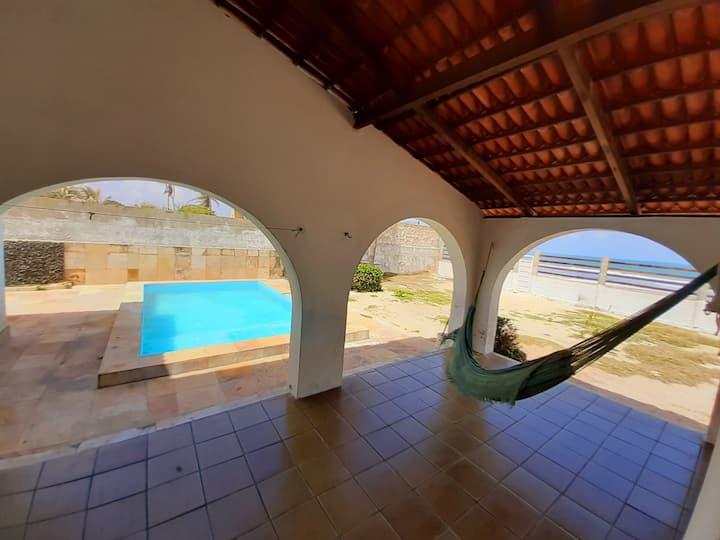 Casa Mediterranea frente ao Mar com Piscina/Wi-fi