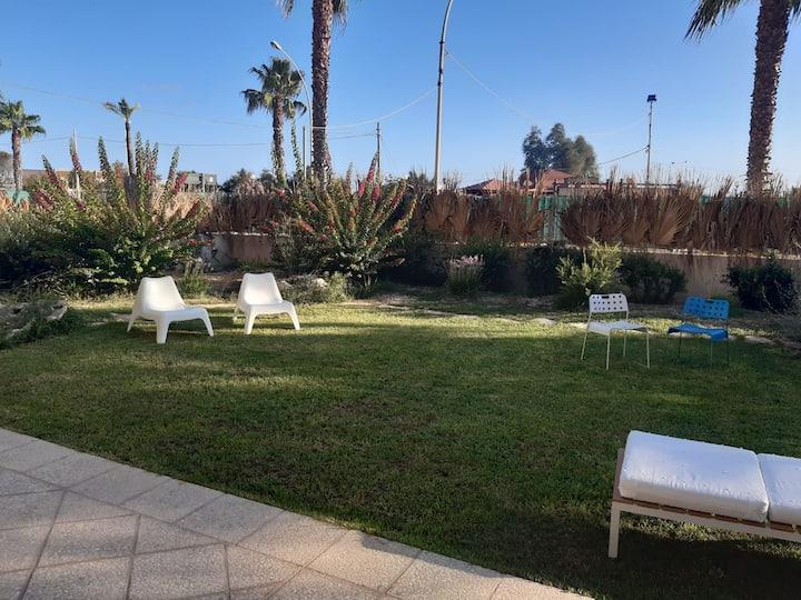 Il giardino in centro a Marsala