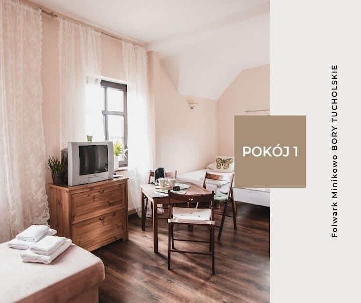 Pokój 1 - Folwark Minikowo Bory Tucholskie (4os)