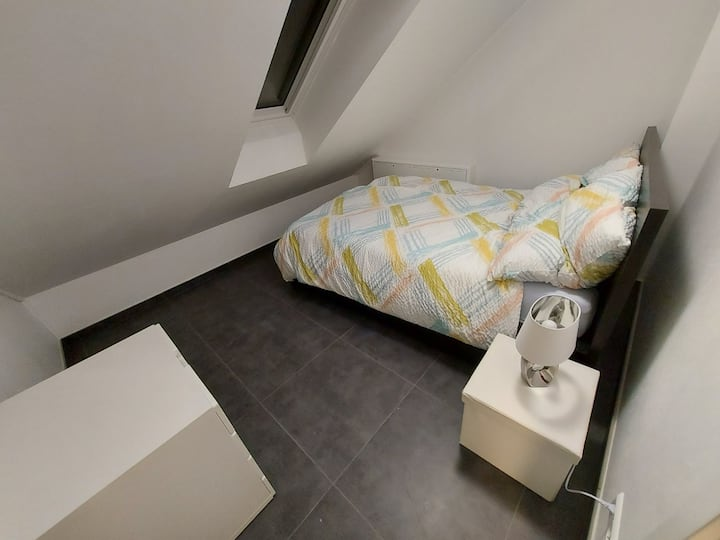 Cosy bedroom for two in a new modern house