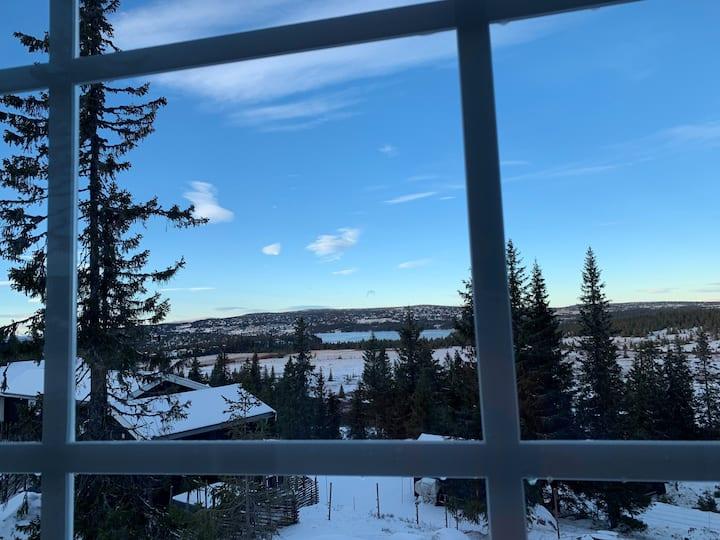 Ski Paradis Sjusjøen, flott utsikt