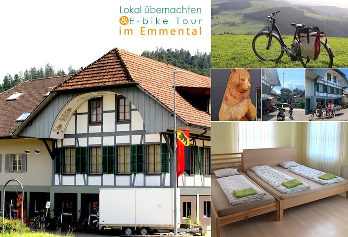 Overnight in Emmental (Good for E-bike)