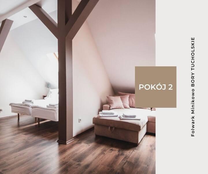Pokój 2 - Folwark Minikowo Bory Tucholskie (5os)