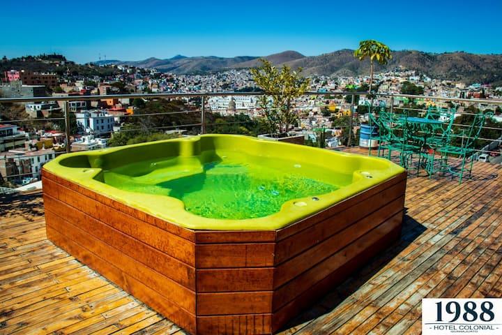 Hermosa vista Guanajuato con alberca y jacuzzi