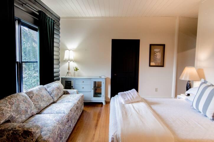"Guest Room - ""Debra's Suite"" -  Main Level - 1 Queen Bed and ensuite bathroom"