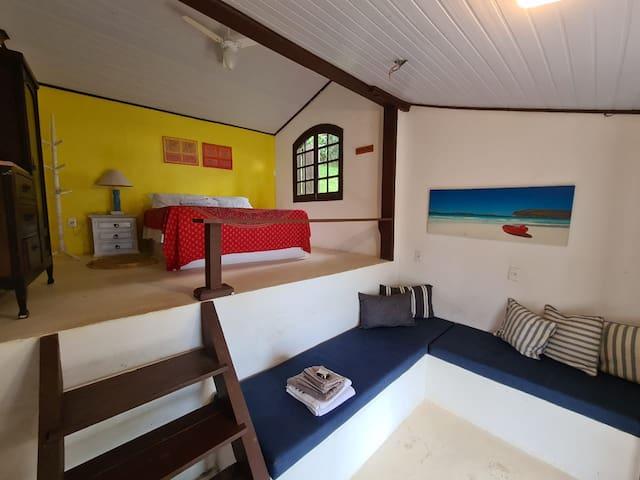 Quarto 3 - Toalhas e roupas de cama inclusas na diária*