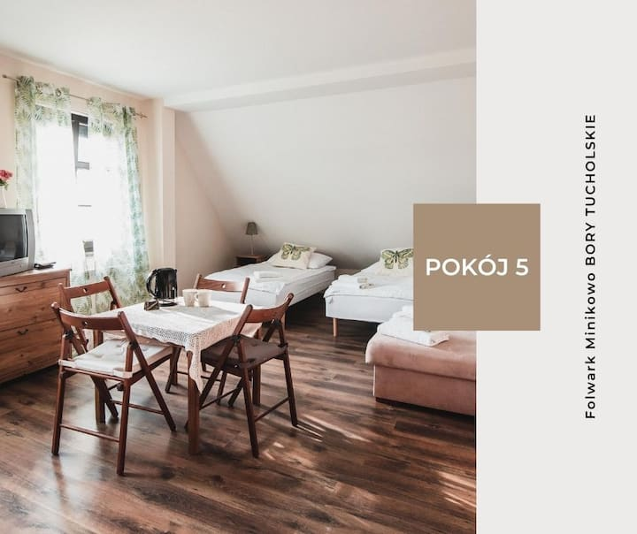 Pokój 5 - Folwark Minikowo Bory Tucholskie (5os)