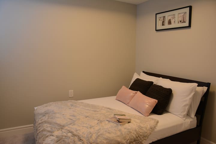 Cute second bedroom with double bed and big window