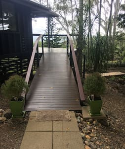 Park right up to the ramp, then access the deck area straight to the Cottage