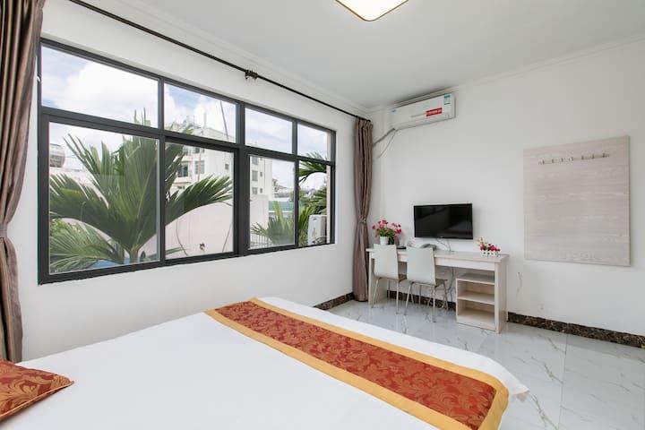 『新房特惠 』吉阳区椰林大东海静之屋公寓/舒适标准大床房/消毒可住