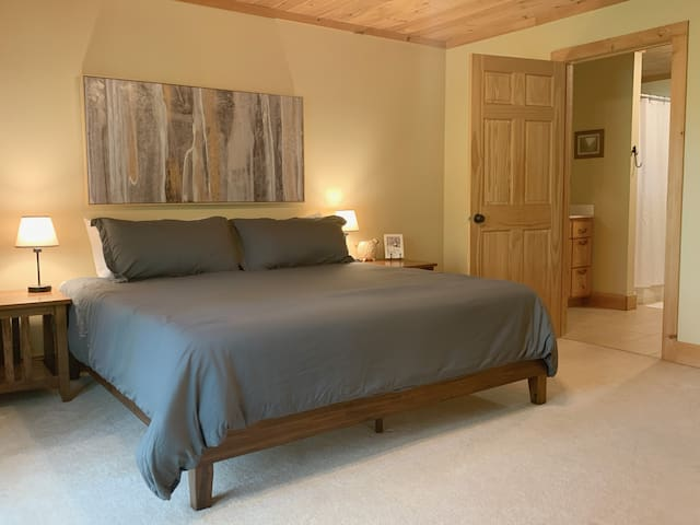 Downstairs master with King bed and en suite