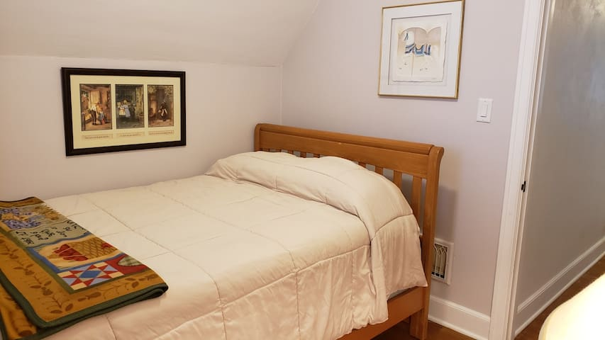 The 3rd bedroom has a full size bed with luxurious mattress and plenty of cabinet storage space