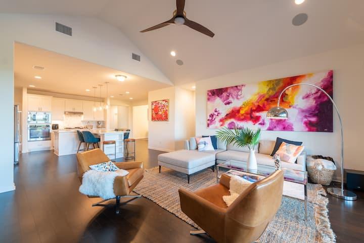 Private bedroom in designer house