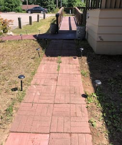Path to ramp and/or front door.
