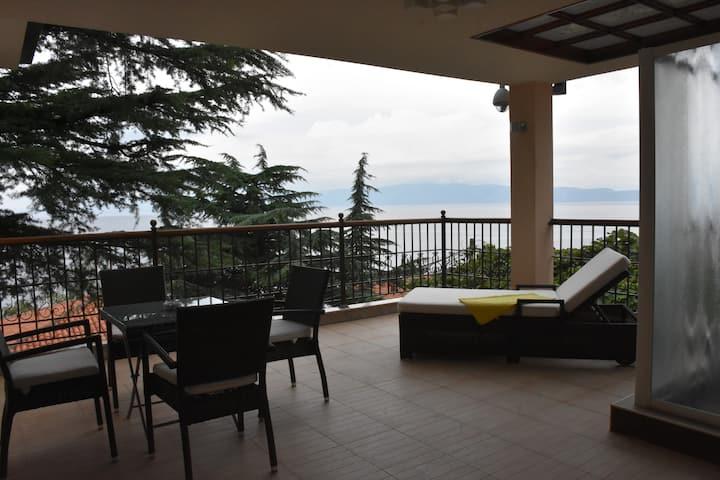 apartman so spektakularen pogled na ezero