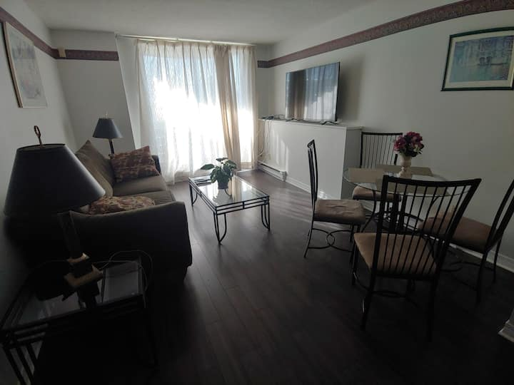 Yearly stays only: 2 bedroom apartment; indoor pkg