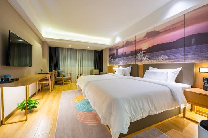 【豪华双床房】东山旅游 全新装修 坐拥风景 人文酒店!